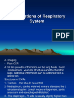 2. Investigations of Respiratory System