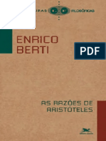 As razoes de Aristoteles - Enrico Berti edit