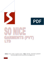 Company Profile of Sonice Garments Ltd