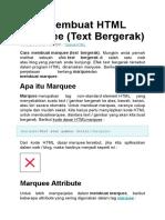 Cara Membuat HTML Marquee