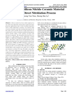 Synthesis of Silicon Nitride Ceramic Material using Direct Nitridation Process
