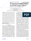 Characteristics comparison of Biodiesel-Diesel Blend (B20) Fuel with Alcohol Additives