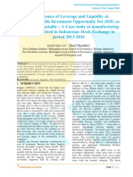 The Influence of Leverage and Liquidity at Profitability with Investment Opportunity Set (IOS) as Intervening Variable – A Case study at manufacturing companies listed in Indonesian Stock Exchange in period 2013-2016