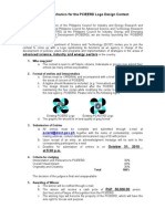 Contest Mechanics for the PCIEERD Logo Design Contest