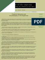 Friedrich Nietzsche and His Philosophy of the Superman