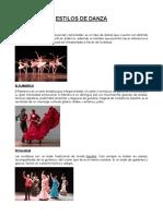 Estilos de Danza
