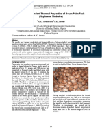 Moisture Dependent Thermal Properties of Doum Palm