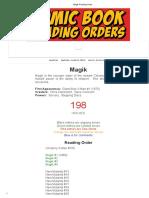 Magik Reading Order