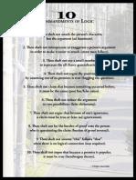 10 Comandements to Logic