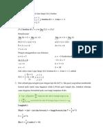 Contoh Soal Kalkulus Diferensial