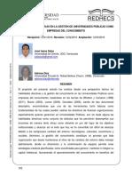 Habilidades Directivas en La Gestión de Universidades Públicas Como Empresas Del Conocimiento