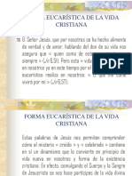 Forma Eucaristica de La Vida Cristiana