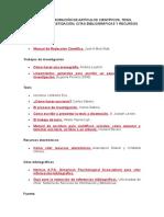 Guía Para La Elaboración de Artículos Científicos