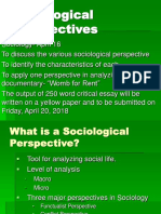 Sociological Perspectives (April 2018)