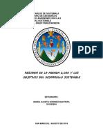Resumen y Objetivos Del Desarrollo Sostenible