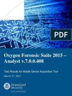 Oxygen Forensic Suite 2015 - Analyst v7.0.0.408 Test Report_Final_0