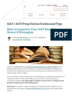 How to Improve Your SAT Reading Score