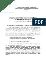 32 87. Studiul Absorbţiei Sonore de Către Plantele de Interior Arabela Lungu Mariana Arghir