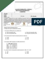 EVALUACION FORMATIVA  UNIDAD 1 MATEMATICA 4° BASICO