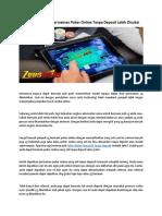 Berikut Argumen Permainan Poker Online Tanpa Deposit Lebih Disukai