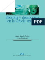 Sancho Rocher, Laura - Filosofía y democracia en la Grecia antigua - (coordinadora).pdf