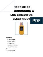 Informe de Introducción a Los Circuitos Electricos