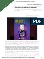 Gmail - Congreso Mundial Metamorfosis de Las Ciencias Sociales y Humanidades