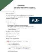 Guia de Estudio Textos Literarios,No Literarios, Carta, correo,Genero y Numero, Signos de Interrogacion y Exclamacion