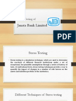 Stress Testing on Janata Bank