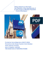 Marketing Research on the Topic _ International Clientele of the Departments of Haute-Vienne
