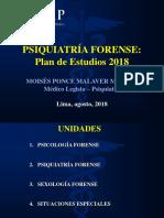 PLAN DE ESTUDIOS PSIQUIATRIA FORENSE 2018 II.ppt