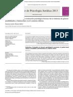 2013 El Control Del Engaño en Evaluacion Psicologica Forense en Violencia de Genero Chile