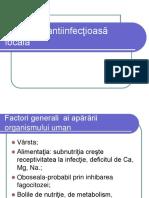 Curs IV Apărarea antiinfecţioasă locală.ppt