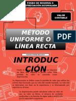 Metodo Uniforme o de Linea Recta