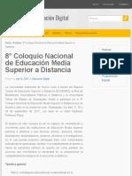 8° Coloquio Nacional de Educación Media Superior a Distancia   Educación Digital