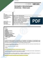 ABNT 6023 - 2002 - Referências e Elaboração