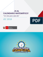 Calendario Matemático-Presentación Para Especialistas Pédagógicos