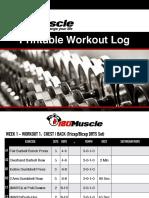 180 Muscle Method DRTS Sets WorksheetsMonth 1