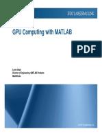 S12267 GPU Computing With Matlab