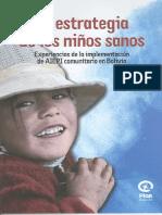 34375039 La Estrategia de Los Ninos Sanos Experiencias de La Implementacion de AIEPI Comunitario en Bolivia