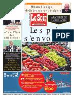 Journal Le Soir Dalgerie Du 19.08.2018