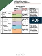 Calendario Miniclases Lcc127 Seccion II