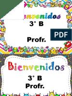 Letreros DE BIENVENIDA