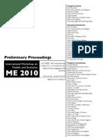 Me 2010 Preliminary Proceedings