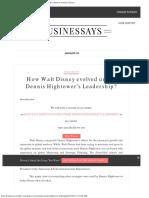 How Walt Disney Evolved Under Dennis Hightower's Leadership Business Articles