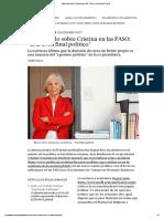 Beatriz Sarlo Sobre Cristina en Las PASO_ _Este Es Su Final Político_ _ Perfil