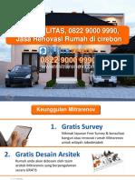 BERKUALITAS, 0822 9000 9990, Jasa Renovasi Rumah Di Cirebon
