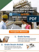BERKUALITAS, 0822 9000 9990, Jasa Desain Rumah Di Cirebon