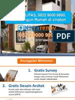 BERKUALITAS, 0822 9000 9990, Jasa Bangun Rumah Di Cirebon