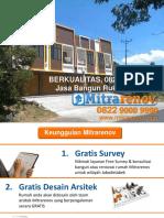 BERKUALITAS, 0822 9000 9990, Jasa Bangun Ruko Di Cirebon